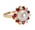 Glowing Nature - Pearl Ruby Diamond Ring