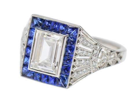 Rays of Light - Sapphire Diamond Ring