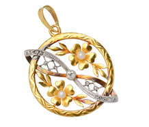 Edwardian Garden - Diamond Gold Pendant