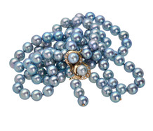 Estate Elegant Blue Gray Strand of Pearls