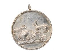 Silver Vintage Rabbits & Guinea Pig Pendant
