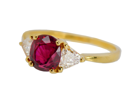 Black Starr & Frost Ruby Diamond Ring