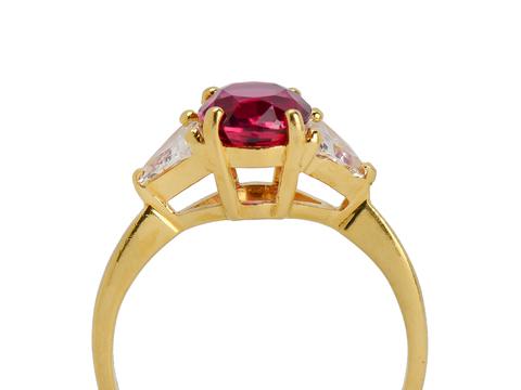 Black Starr & Frost Ruby Diamond Ring