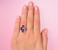 Art Deco Allure - Amethyst Fancy Cut Ring