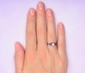 Three Stone Sapphire Diamond Wedding Ring