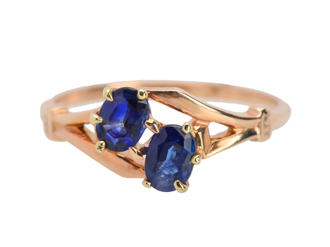 Synchronicity - Double Sapphire Vintage Ring