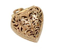 Heart Pendant - Tiny Engagement Ring Inside
