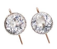 Sparkling Georgian Paste Solitaire Earrings