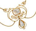 Art Nouveau Blue Moonstone Necklace