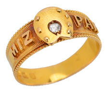 Mizpah Diamond Horseshoe Ring of 1888