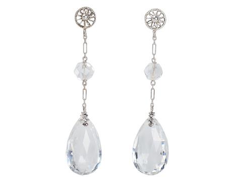 Art Deco Rock Crystal Dangle Earrings