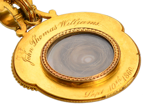 Antique Fontenay Gold Miniature Portrait Locket