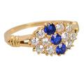 Sapphire Diamond Edwardian Ring