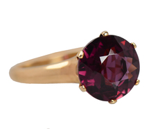 Purple Majesty - Tourmaline Solitaire Ring