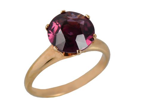 Purple Majesty - Tourmaline Solitaire Ring