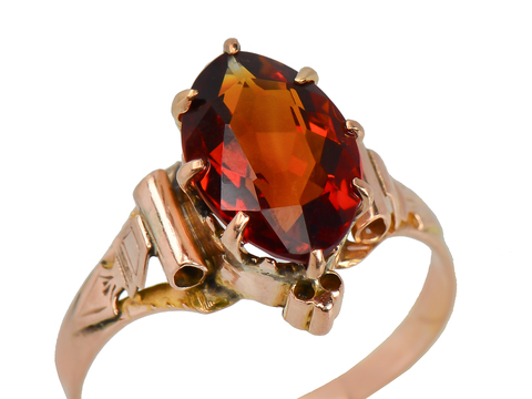 Victorian Citrine Rose Gold Ring