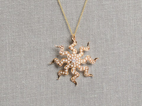 Perpetual Motion - Antique Pearl Diamond Pendant