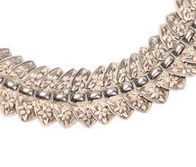 Silver Bouquet - Victorian Collar Necklace