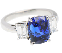 Enchantment - Three Stone Sapphire Diamond Ring