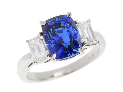 Enchantment - Three Stone Sapphire Diamond Ring
