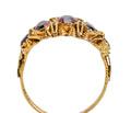 Georgian Five Stone Garnet Antique Ring