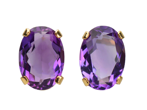 Petite & Sweet - Amethyst Stud Earrings