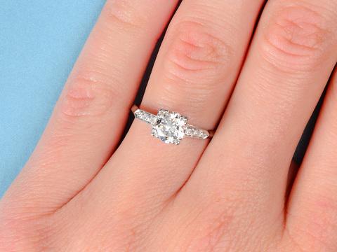 Embraceable - Vintage Diamond Engagement Ring