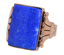 Starry Sky - Edwardian Rose Gold Ring