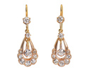 Intrigue - Edwardian Diamond Drop Earrings