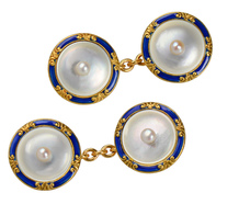 Off the Cuff - Mother of Pearl Enamel Cufflinks