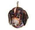 A Dog's Life - Antique Enamel Pendant