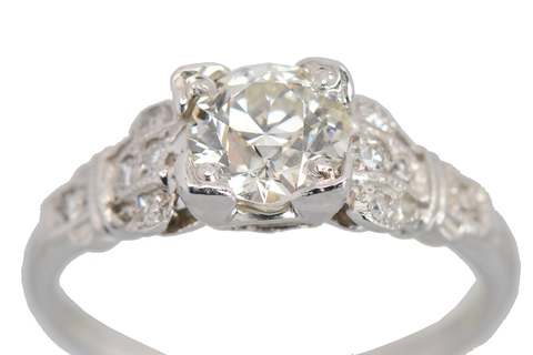 Ode to Romance - Vintage Diamond Engagement Ring
