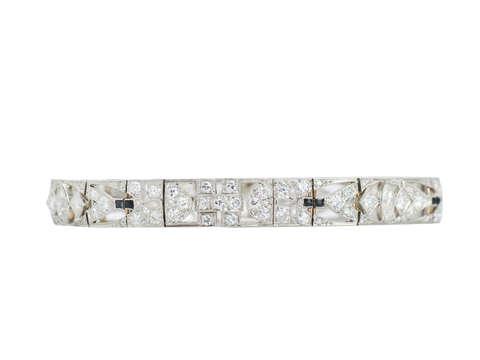 Art Deco Onyx Diamond Bracelet