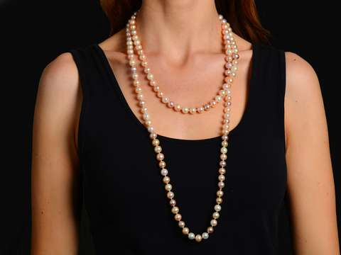 Continuous Beauty - Strand of Pink Pearls
