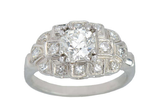 More Than Ever - Vintage Diamond Platinum Ring