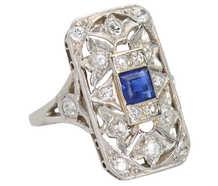 Uniquely You - Art Deco Sapphire Diamond Ring