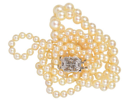 Vintage Double Strand Cultured Pearl Necklace
