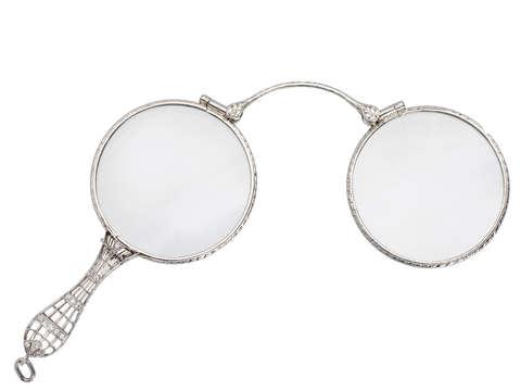 Eye Catching Platinum Diamond Lorgnette