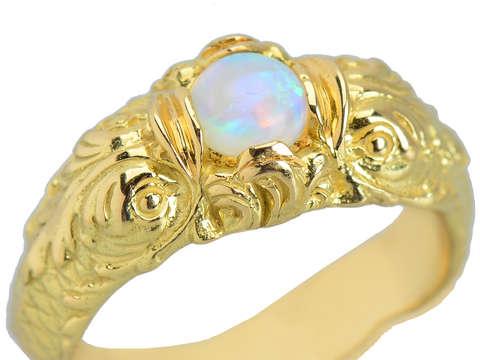 Neo Renaissance Dolphin Opal Ring