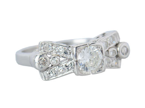 Dynamism - Vintage Diamond Retro Ring
