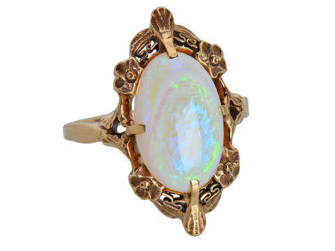 Spiral Galaxy - Opal Antique Ring