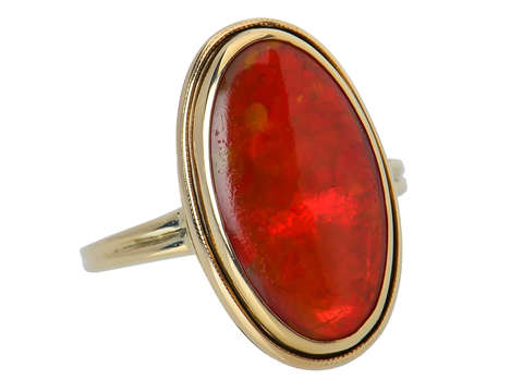 Vintage Mexican Fire Opal Ring
