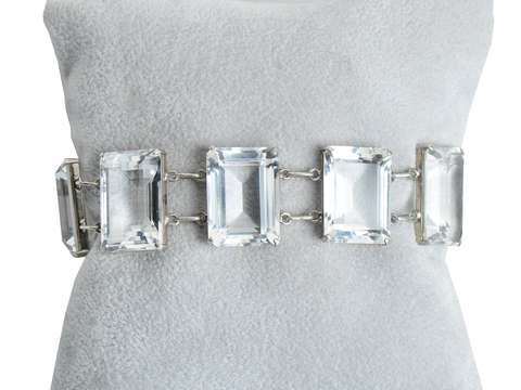 Ice Palace: Art Deco Rock Crystal Bracelet