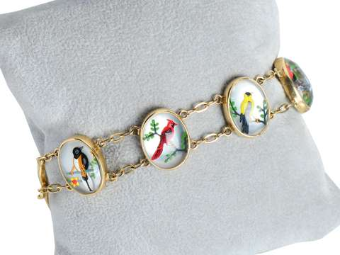 Vintage Essex Crystal Bird Bracelet