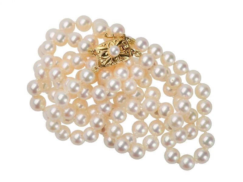 31768d9101f7e Mikimoto Double Strand of Cultured Pearls