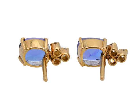 Vintage Tanzanite Diamond Earrings