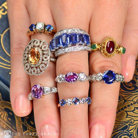 Wonder Whorls - Precious Topaz Diamond Ring