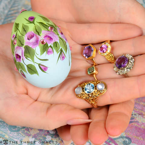 Amethyst Vintage Rose Cut Diamond Ring