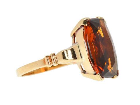 Fancy Free - Vintage Citrine Ring