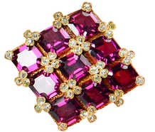 Rhapsody - Sumptuous Antique Garnet Pendant Brooch